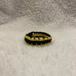 Handmade Black and Gold Paracord Bracelet